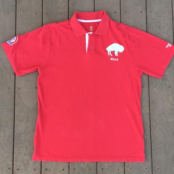 fed8554e26 NFL Buffalo Bills Vintage Collection. M 5b3405dec2e9fe3c8c9ca893. Other  Shirts you may like. Reebok Short Sleeve Polo ...